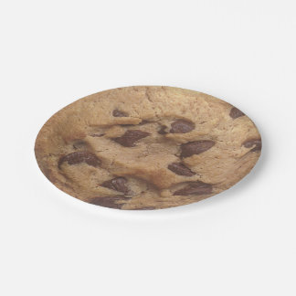 Novelty Chocolate Chip Cookie 7 Inch Paper Plate