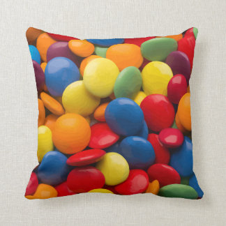 Novelty Colorful Candy Throw Pillow