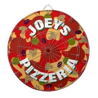 Novelty custom pepperoni pizza dartboard design