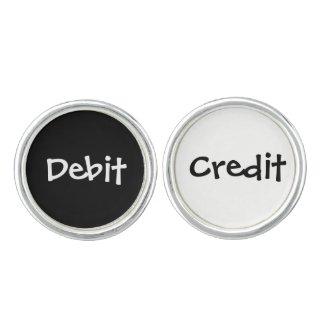 Novelty Funny Accountant Debit and Credit Joke Cufflinks