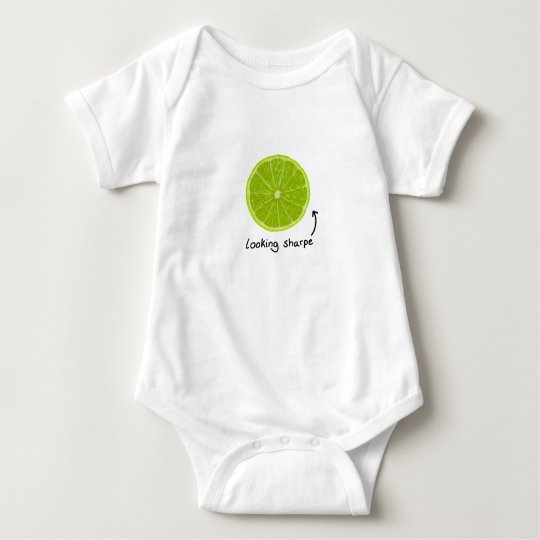 "novelty ""looking sharpe"" lime baby clothes baby"