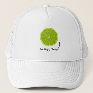 "novelty ""looking sharpe"" lime hat"