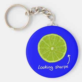 """novelty """"looking sharpe"""" lime key chain"""