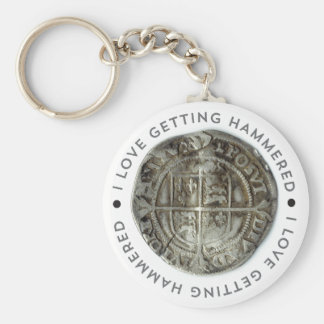 Novelty metal detecting key chain