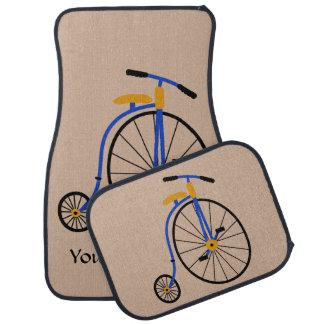 Novelty Old Fashioned Bike Blue Floor Mat