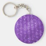 Novelty Purple Bubble Wrap Look Keychain