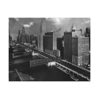 November 1939:  The city of Chicago Canvas Prints
