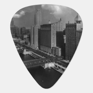 November 1939:  The city of Chicago Guitar Pick