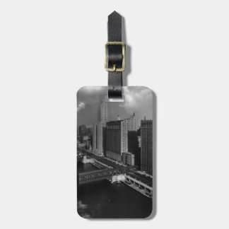 November 1939:  The city of Chicago Luggage Tag