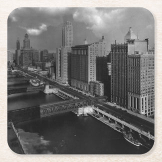 November 1939:  The city of Chicago Square Paper Coaster