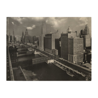 November 1939:  The city of Chicago Wood Canvas