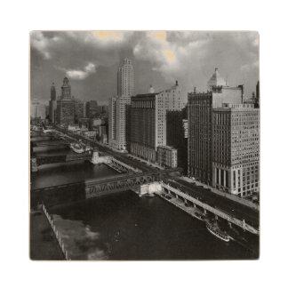 November 1939:  The city of Chicago Wood Coaster
