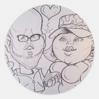 November 2012- A Classic Round Sticker