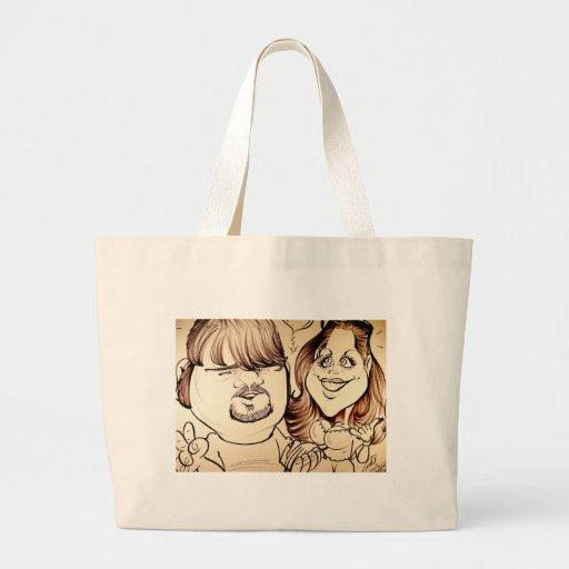 November 2012 State Fair Louisiana Caricature Canvas Bags