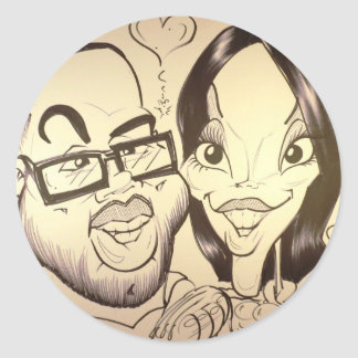 November 2012 State Fair Louisiana Caricature Round Stickers