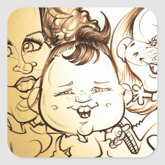 November 2012 State Fair Louisiana Caricature Square Sticker