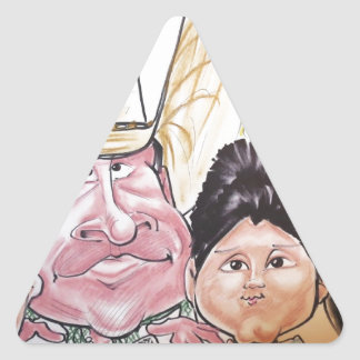 November 2012 State Fair Louisiana Caricature Triangle Sticker