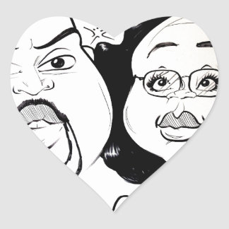 November 2012 State Fair Louisiana Caricature Heart Stickers