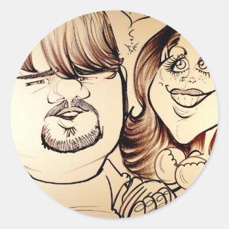 November 2012 State Fair Louisiana Caricature Round Sticker
