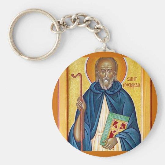 November  25 Saint Columban Basic Round Button Key Ring