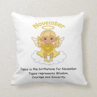 November Birthstone Angel Blonde Pillow