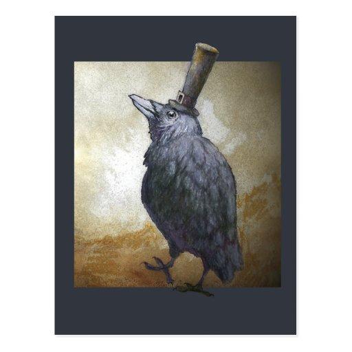 November Crow Post Card