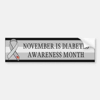 November Diabetes Awareness Awareness Month Ribbon Bumper Sticker
