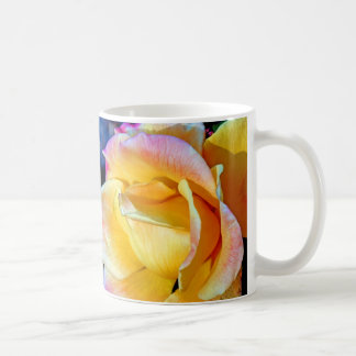 November Flame Delicate Yellow Rose Basic White Mug
