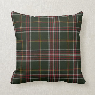 November Green Tartan Pillow