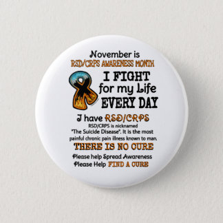 November...I Fight 6 Cm Round Badge