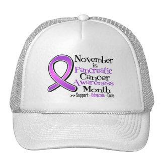 November is Pancreatic Cancer Awareness Month Trucker Hat