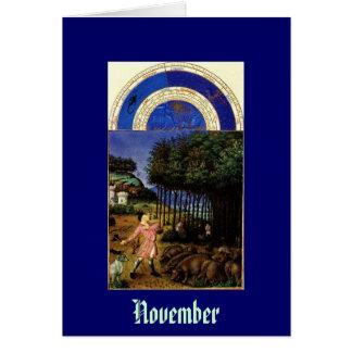 November - Les Tres Riches Heures du Duc de Berry Card