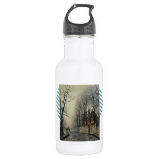 November Moonlight by John Atkinson Grimshaw 532 Ml Water Bottle
