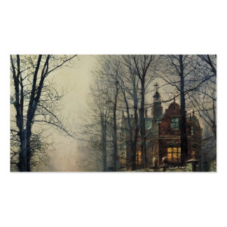 November Moonlight by John Atkinson Grimshaw Pack Of Standard Business Cards
