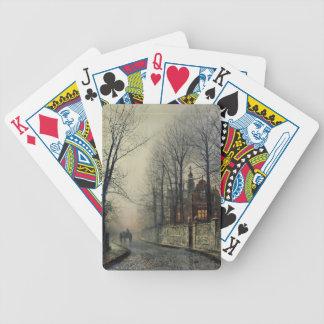 November Moonlight by John Atkinson Grimshaw Bicycle Card Decks