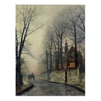 November Moonlight by John Atkinson Grimshaw Postcard