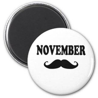November Moustache!!! Magnet
