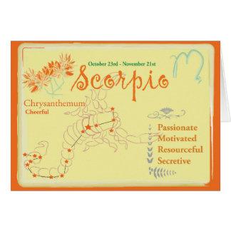 November Scorpio Greeting Card
