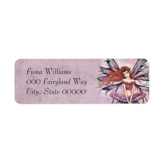 November Sprite Fantasy Fairy Art Return Address Label