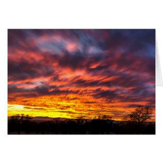 November sunset greetings card