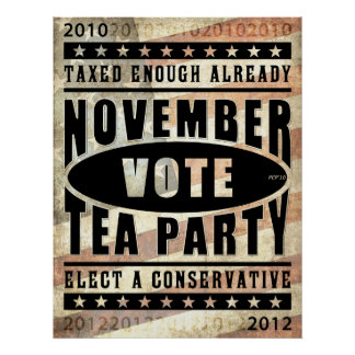 November Tea Party Poster