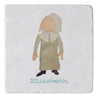 November Thanksgiving Pilgrim Custom Name Toddler Trivet