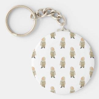 November Thanksgiving Pilgrim Puritan Kids Pattern Basic Round Button Key Ring