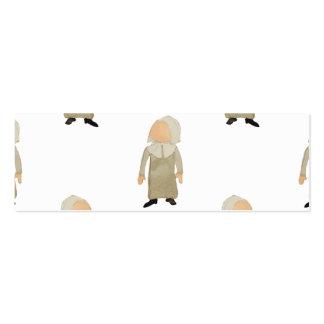 November Thanksgiving Pilgrim Puritan Kids Pattern Pack Of Skinny Business Cards