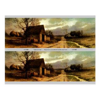 November Twilight  (1912) Barn and Fields Bookmark Postcard