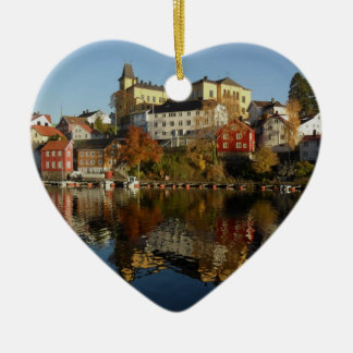 Novemberday in Arendal Ceramic Heart Decoration