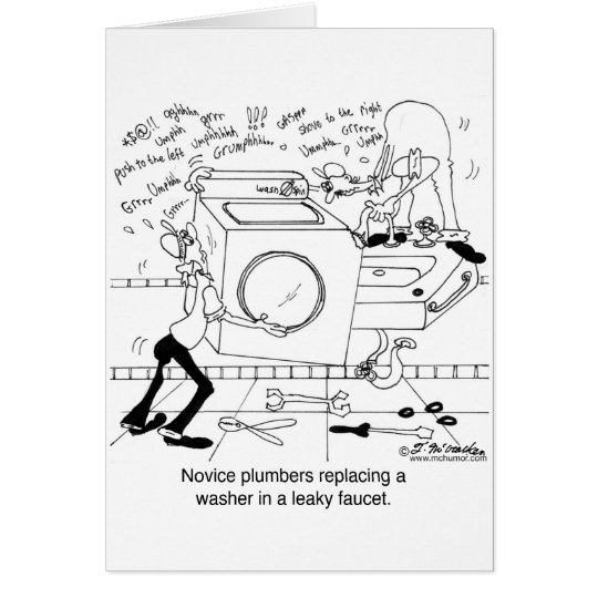 Novice Plumbers Install a Washer Card