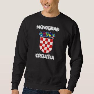 Novigrad, Croatia with coat of arms Sweatshirt