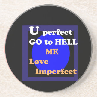 NOVINO Blind Date Messages - Love Imperfect Coasters