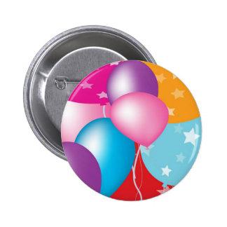 NOVINO Celeberations - Baloons,Stars n Hearts 6 Cm Round Badge